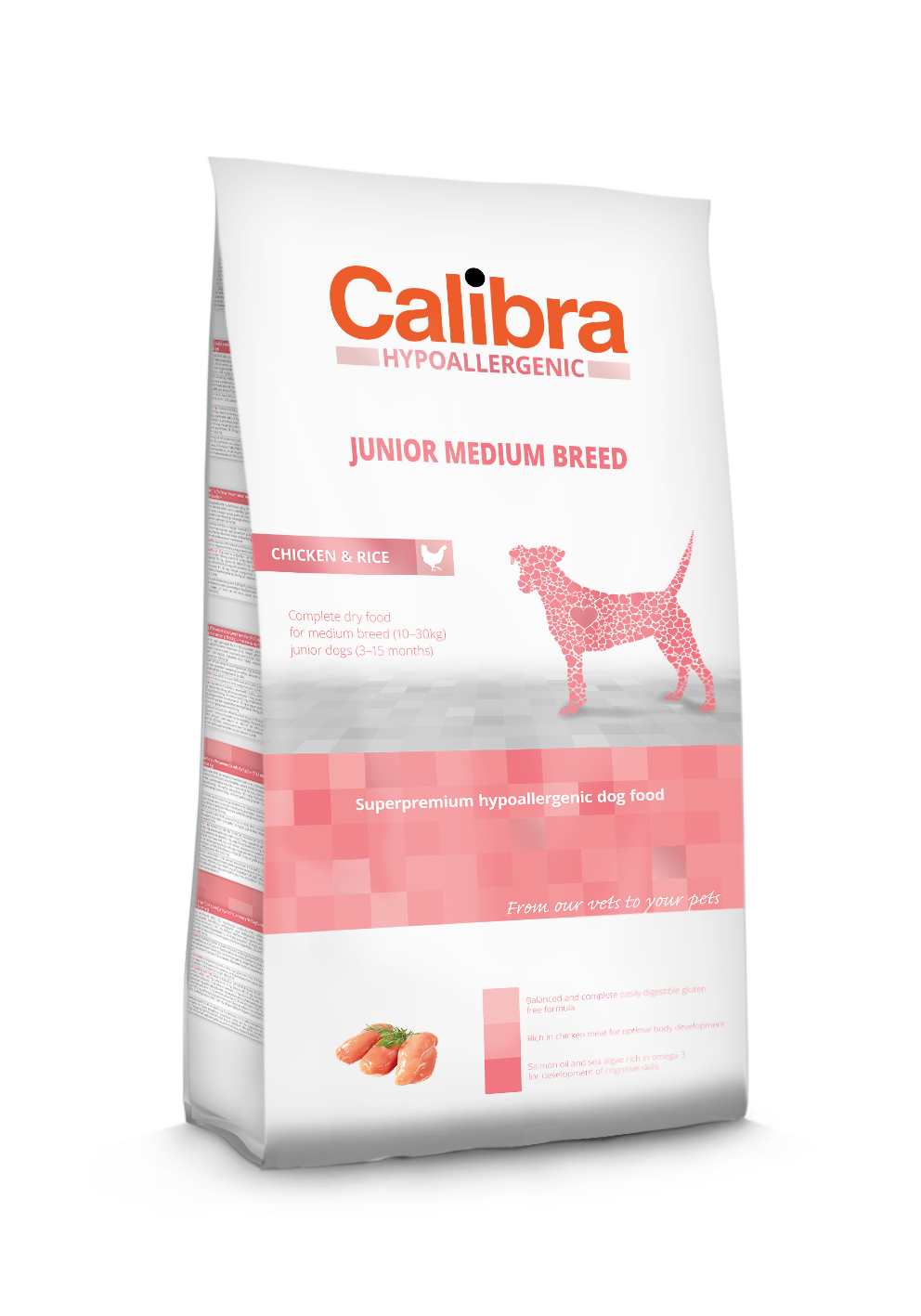 Calibra Dog Junior Medium Breed / Chicken & Rice